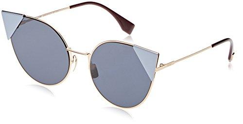 Fendi Women's Arrow Accent Sunglasses, Rose Gold Blue/Blue, One - Sunglasses Fendi Gold