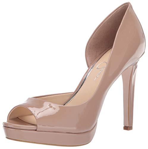 Jessica Simpson Women's DEISTA Shoe, Nude, 7 M US (Platforms Leather Jessica)
