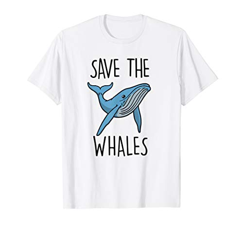 (Save The Whales T Shirt Lover Cute Sea Marine Animals Gifts)
