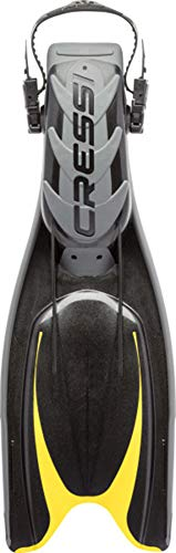Cressi Adult Powerful Efficient Open Heel Scuba Diving Fins | Frog Plus: made in Italy