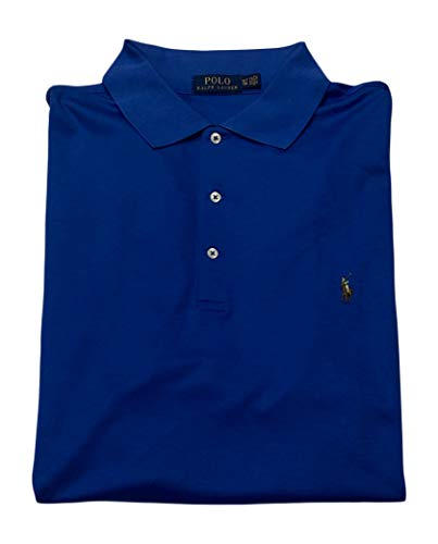 - Big and Tall Soft-Touch Pima Cotton Polo Shirt Classic-Fit (2X Tall, New Iris Blue)