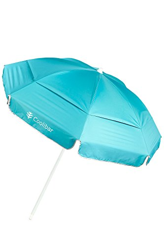 (Coolibar UPF 50+ 6 Foot Beach Umbrella - Sun Protective (One Size- Cooliblue))