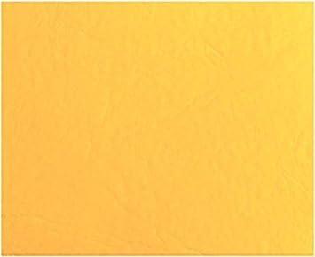 HAPPERS 0,50 Metros de Polipiel para tapizar, Manualidades, Cojines o forrar Objetos. Venta de Polipiel por Metros. Diseño Sugan Color Amarillo Ancho ...