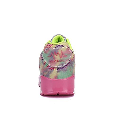 Nero Con rosa Comfort sneaker Spacco Zeppa casual Athletic Da Tulle Donna autunno A blu B Tacco Primavera Sneakers qWRaFw64a