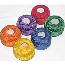 PERLE size 8-CRAYON SAMPLER-1 pkg/6balls- all cotton