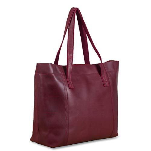 - S-mate Womens Large Tote Bag Genuine Leather handbag