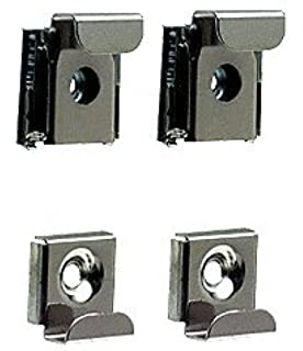 CRL Polished Chrome Plastic Lined Mirror Mounting Clips 4 Per Set
