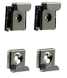 Crl Polished Chrome Plastic Lined Mirror Mounting Clips 4