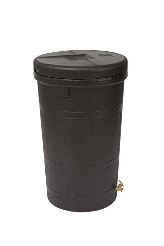 Good Ideas RW-ASPEN50-OAK Wizard Aspen 50 Gallon Saver-Oak Rain Barrel, Large, (Oak Rain Barrels)