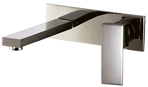 Dawn AB75 1368BN Wall Mounted Single-Lever Concealed Washbasin Mixer, Brushed Nickel (Wall Mounted Washbasin)