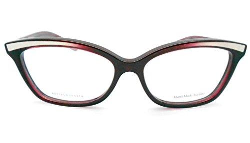 Bottega Veneta B.V 173 Burgundy Rectangular eyeglasses