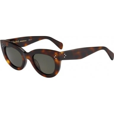 90ff7cad01178 Céline Sunglasses - 41050 S   Frame  Havana Lens  Green