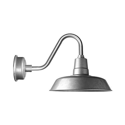 Cocoweb 12 Inch Barn Light in Galvanized Silver