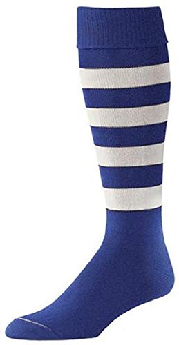 Profeet Bumble Bee Soccer Socks Large 10-13 Royal Blue/White