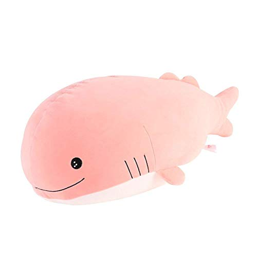 Molizhi Soft Whale Shark Stuffed Animal, Big Hugging Plush Pillow Doll Fish Toy, Gifts for Girls, Friends, Kids, 13.8
