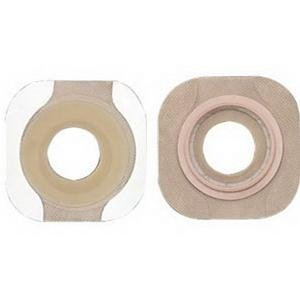 Colostomy Barrier New Image Flextend Pre-Cut, Tape 2-1/4'' Flange Red Code Hydrocolloid 1-3/8'' (#14707, Sold Per Box) by New Image