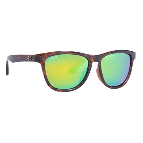 Calcutta Cayman Sunglasses Tortoise Frame w/ Green Mirror - Sunglasses Cayman