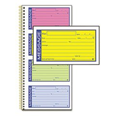 Adams Products - Adams - Wirebound Telephone Message Book, 2-Part Carbonless, 200 Forms - Sold As 1 Each - Check-off boxes for message type and lined space for specific message. - Copy remains in book as permanent record. - by Adams Manufacturing
