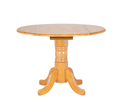 (Sunset Trading DLU-TPD4242-LO Oak Selections Dining Table, Light Finish)