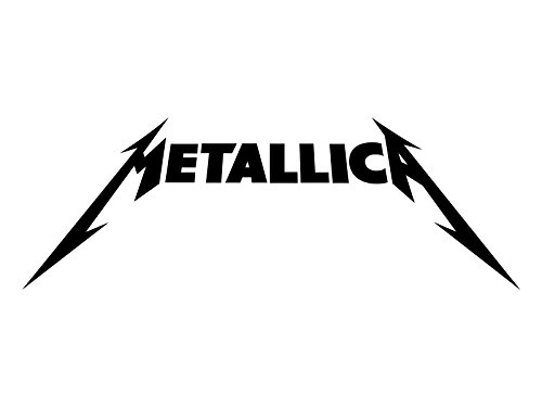 Metallica Rock Band Heavy Metal Decal Sticker, H 3.5 By L 9 Inches, White, Black, Silver, Red, Yellow, or Blue