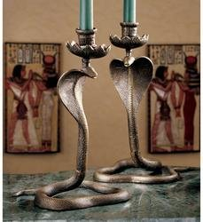 Egyptian Cobra statue Candle stick holder Sculpture New ()