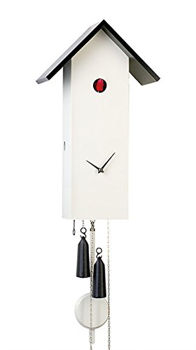 German Cuckoo Clock 8-day-movement Modern-Art-Style 16.10 inch - Authentic black forest cuckoo clock by Rombach & Haas by Authentic German Black Forest Cuckoo Clock