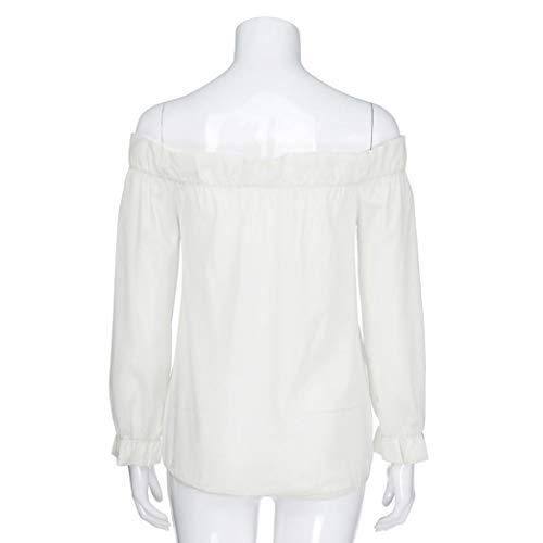 Collo Donna Routinfly V Camicia A White Ux5qfzR
