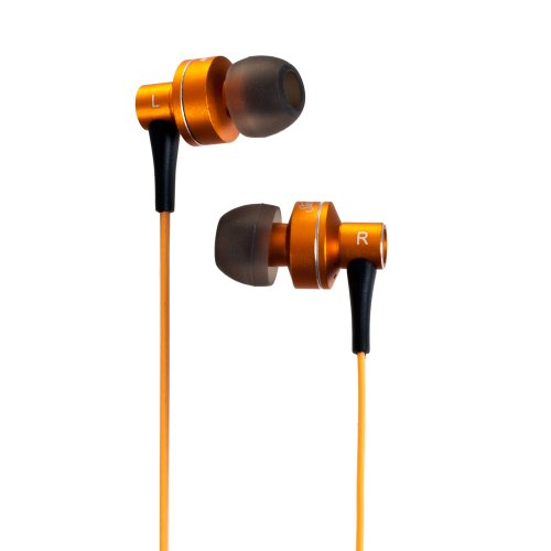 Sunbeam 72-SB510 Stereo HD Bass Metal Earphones - Orange (Sunbeam Headphones compare prices)
