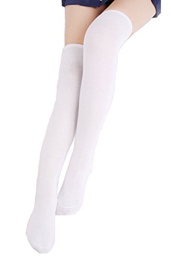 Angel-Legend-Womens-Stripe-Over-the-Knee-Tube-Thigh-High-Stockings-for-Mini-Skirt-Sports-Socks