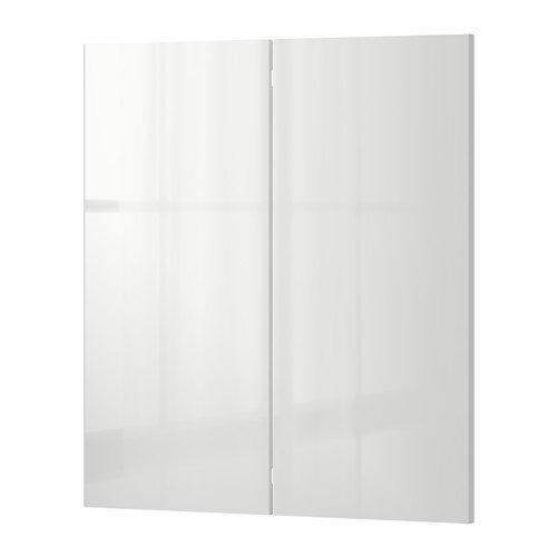 Ikea 2-p door/corner base cabinet set, high gloss 13x30 - Ikea Cabinet Corner