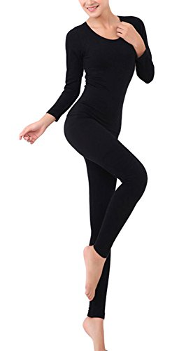 LANBAOSI Women's 2pc Long John Thin Seamless Thermal Underwe