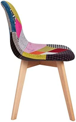 Regalos Miguel - Sillas Comedor - Silla Synk Patchwork - Patchwork Colores - Envío Desde España