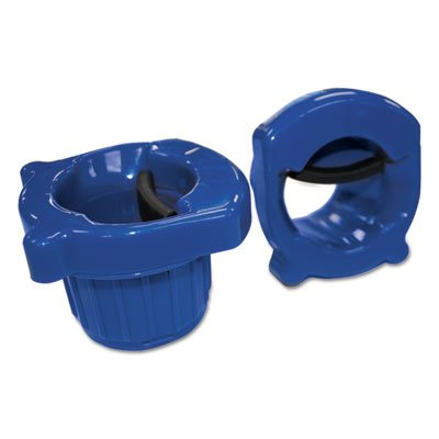 Hand Core Dispenser for Stretch Film Rolls 12'' to 18'' Wide, Blue