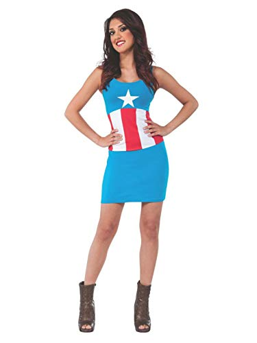 Rubie's Women's Marvel Universe Adult American Dream Tank Dress, Multi, Large]()