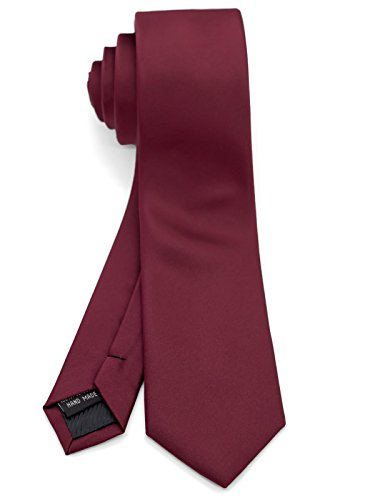 - WANDM Men's Slim Skinny Tie Business Necktie width 2.4