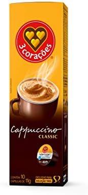 Cápsula de Cappuccino, Classic, 10 Unidades, Tres, 3 Corações