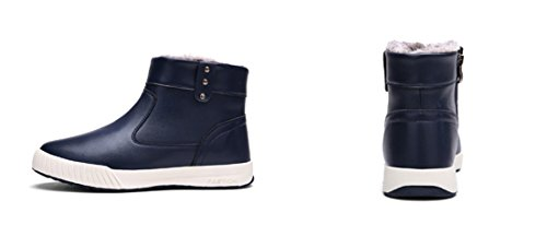 Bancebs Lace Up Suede Mode Heren Chukka Boots Blauw