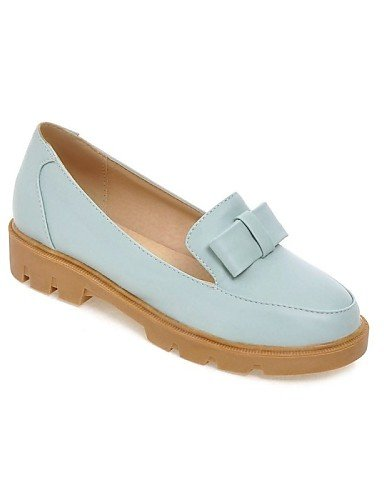 Comfort us9 Eu42 Beige Azul Mujer Pink Puntiagudos De Cn43 5 Plano 5 Cn41 Casual Uk8 Gyht Pink Tacón us10 Zapatos Uk7 Eu40 Rosa Planos Semicuero Zq YqAFF