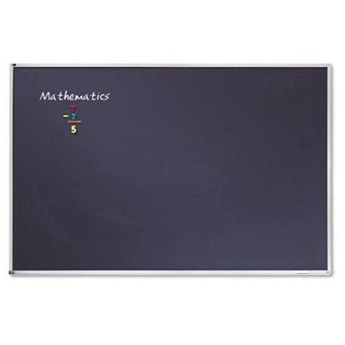 Quartet Porcelain Chalkboard, 4 x 6 Feet, Black with Aluminum Frame (PCA406B) (Renewed) Anodized Aluminum Frame Porcelain Chalkboards