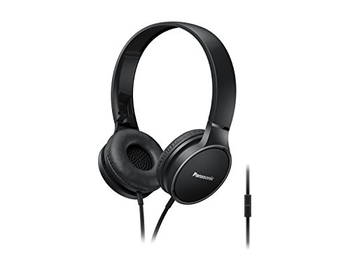 Panasonic RPHF300MEK On-Ear Stereo Headphones - Bl...