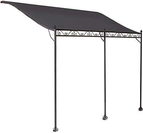 ProBache - Toldo pérgola gris adosado para terraza, de 3 x 4 m ...