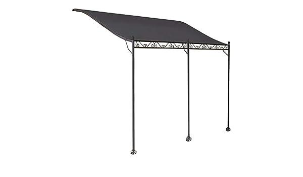 ProBache - Toldo pérgola gris adosado para terraza, de 3 x 4 m: Amazon.es: Jardín