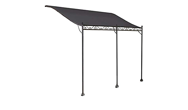 ProBache - Toldo pérgola gris adosado para terraza, de 3 x 4 ...