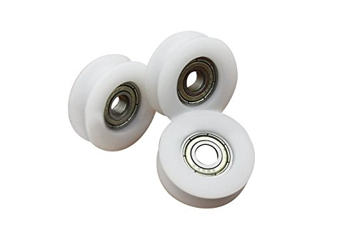 Letool10pcs U groove sliding door wheel 6x26.5x9mm POM caoted with 696zz bearing roller inner 6mm groove wheel (10)