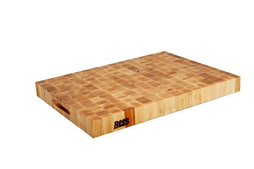 John Boos End Grain Cutting Board - John Boos Reversible Chopping Block in End Grain Construction, 24 by 18 by 2.25