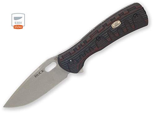 Buck Knives 847 Vantage Force Pro Black/Red G10 BOS S30V One Hand Open Folding Knife
