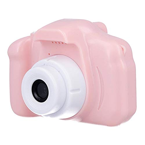 VEZOL Kids Digital Camera, Web Camera for Computer Child Video Recorder Camera Full HD 1080P Handy Portable Camera 2.0 Screen, with Inbuilt Games for Kids (Pink)