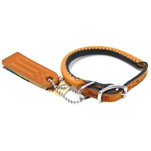 "Coastal Pet Products Circle T Oak Tanned Leather Round Dog Collar, 3/8"" x 10"", Tan"