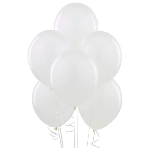 White 12 Inch Thickened Latex Balloons, Pack of
