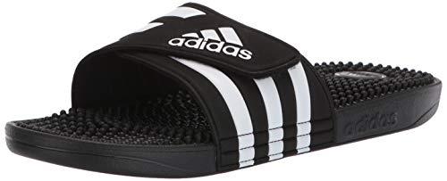 adidas Adissage, White/Black, 6 M US ()